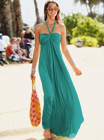 uzun yazlık son moda penye elbiseler