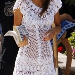 örgü beyaz dantel tunik bluz modeli