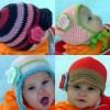 örgü el iş çocuk şapka modelleri