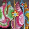 örgü tığ işi merserize çocuk şapkaları