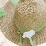 Hasır şapka süsleme