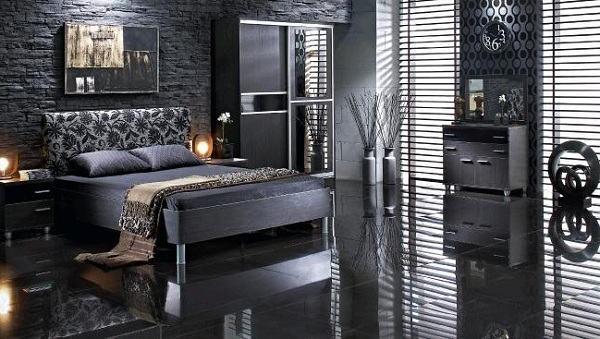 Siyah Dekoratif Yatak Odası Modeli