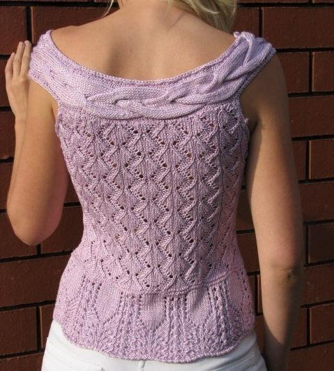 Yazlık örgü ajurlu bluz modeli