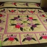 aplike yatak örtüsü takımı