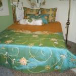 aplikeli muhteşem yatak örtüsü modeli