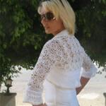 beyaz örgü bolero modelleri