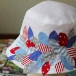 beyaz el süslemeli şapka modeli