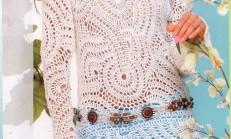 Beyaz Yazlık Örgü Hırka ve Bluzlar