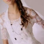 dantel motifli bayan bluz örneği