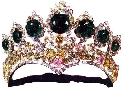 değerli taşlı kraliçe tacı örnekleri