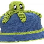 deniz anası işlemeli çocukl şapkası
