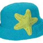 deniz yıldızı süslemeli fötr çocuk şapkası
