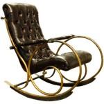 deri bronz metal sallanan koltuk modelleri