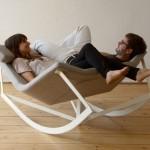 gri çiftli sallanan koltuk modeli