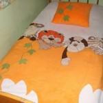 harika aplikeli yatak örtüsü