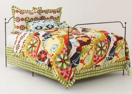 kırkyama aplike harika yatak örtüleri