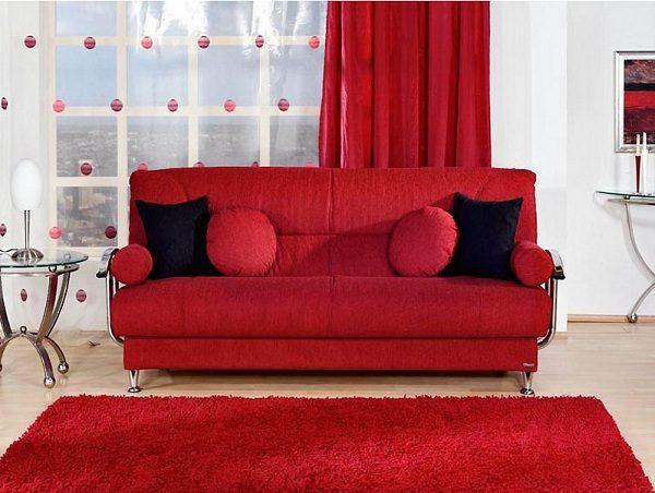 kırmızı modern kanepe