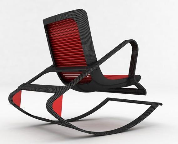 kırmızı siyah sallanan sandalye