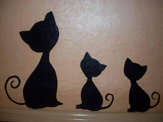kedili duvar yapıştırma süsleri