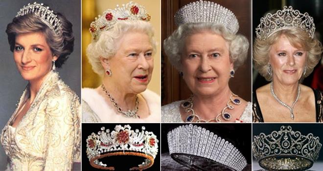 kraliçeler prensesler ve muhteşem taçları