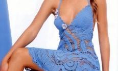 Bayan Örgü Yazlık Elbise Modelleri