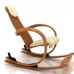 modern ahşap şık sallanan sandalye dizaynı