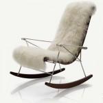 modern ahşap metal sallanan koltuklar