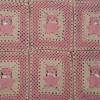 motifli örgü bebek battaniyesi