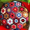 rengarenk örülmüş motifli dekoratif yastıklar