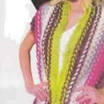 renkli firkete örgüsü yelek modelleri