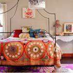 renkli modern aplike yatak örtüleri