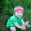 tığ işi renkli örgü çocuk şapkası