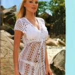 tığ ile örülen beyaz dantel bluz modeli