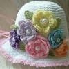 yazlık örgü çocuk şapka modelleri