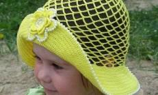 Yazlık Örgü Süslemeli Çocuk Şapkaları