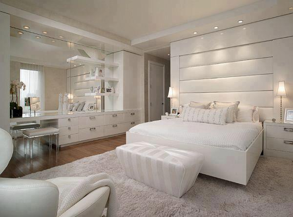 beyaz ultra lüks yatak odası dekorasyon fikirleri örnekleri