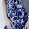 mavi şifon elbise