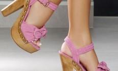Kalın Tahta Topuk Ayakkabı Modelleri