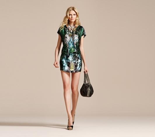 Vakko Desenli Elbise Modeli