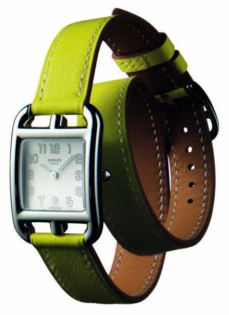 çift dolamalı yeşil kordonlu saat modeli
