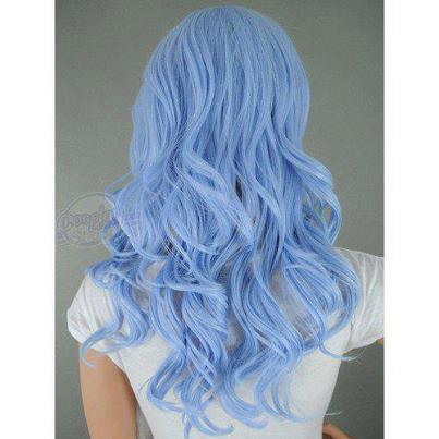 açık mavi saç rengi
