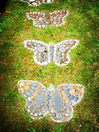Bahçe dekoratif taş döşeme