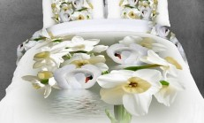 Çiçek Desenli Nevresim ve Yatak Örtüleri