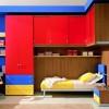 dekoratif renkli genç odaları