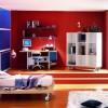 kırmızı mavi genç odaları