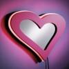 kalp şeklinde ışıklandırmalı ayna
