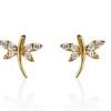 kelebek modelli altın küpe tasarımları