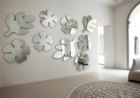 modern duvar ayna stickerları