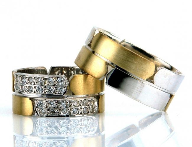 taşlı altın alyanslar