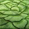 yeşil çiçek kabartmalı halı dizayn